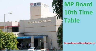 MP-Board-10th-Time-Table-2020