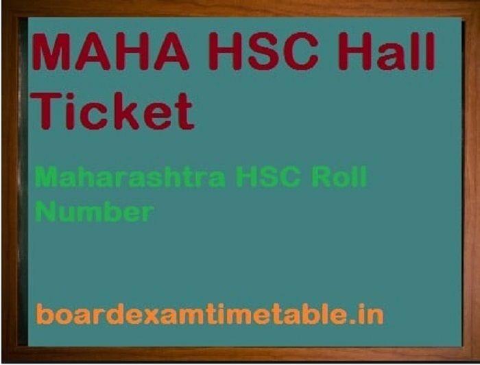 MAHA HSC Hall Ticket 2020