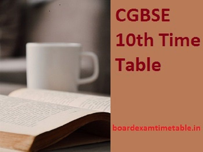 CGBSE-10th-Time-Table-2020