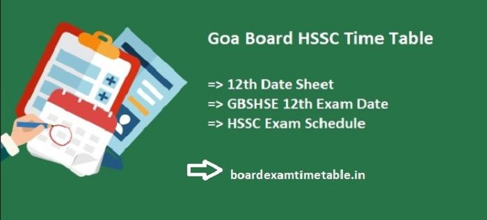 GBSHSE-HSSC-Time-Table-2020