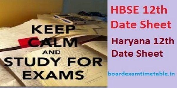 HBSE-12th-Date-Sheet-2020