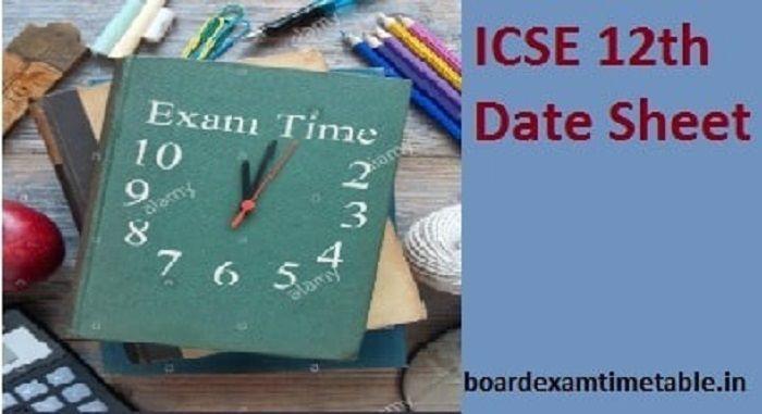 ICSE-12th-Date-Sheet-2020.