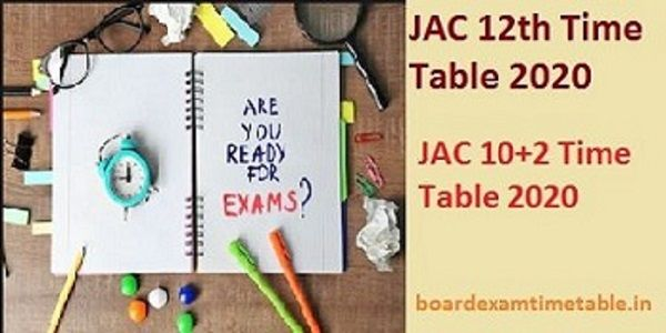 JAC-12th-Time-Table-2020