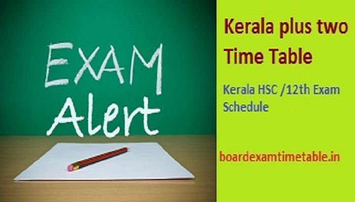 Kerala-plus-two-Time-Table-2020