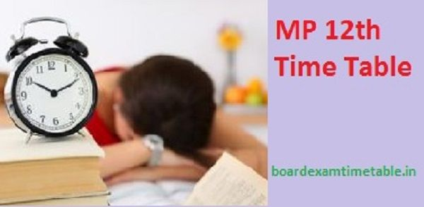 MP-Board-12th-Time-Table-2020