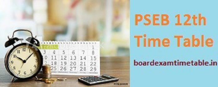 PSEB-12th-Time-Table-2020