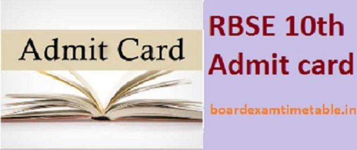 RBSE-10th-Admit-card-2020