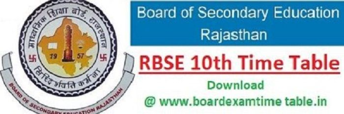 RBSE-10th-time-table-2020