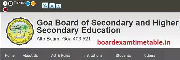 Goa Board 10th Model Paper 2020
