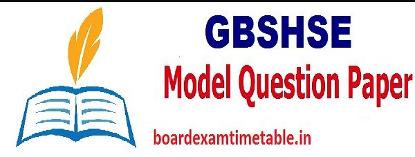 Goa Board 12th Model Paper 2020