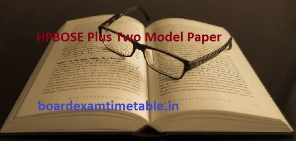 HPBOSE Plus Two Model Paper 2020