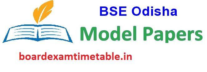 Orissa Board 10th Model Paper 2020